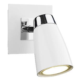 DAR LOFT Low Energy Spot Lampe Schalter poliert Chrom & Matt weiß, 1x GU10