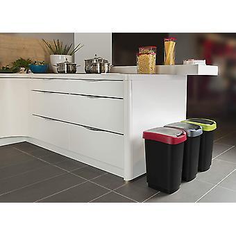 DZK , Twist, Waste bin 25l with lid, can be used as swing or hinged lid, Plastic (PP) BPA-free,