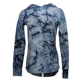 Belle by Kim Gravel Women's Sweater Reg TripleLuxe Hoodie Blue A347137