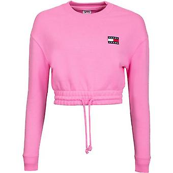 Tommy Jeans Badge Logo Cropped Crew Neck Sweat