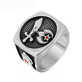 Shriners emblem fez anillo masónico