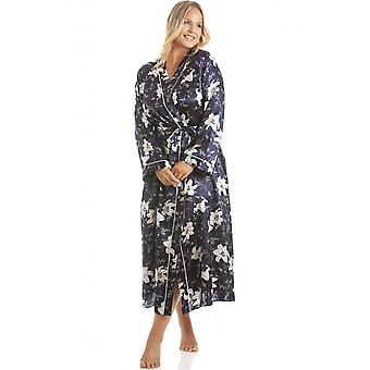 Camille Womens Navy Lilly Satin Wrap