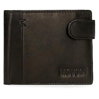 Movom Fantasy Horizontal wallet with black 11x8.5x1 cms leather click closure