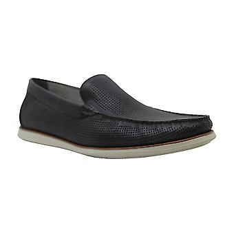 Kenneth Cole New York Cyrus Slip On Perforated Leather Loafer Lt Grey