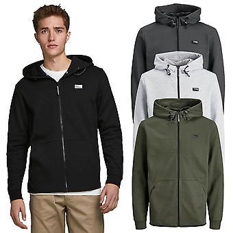 Jack & Jones Mens 2021 Rits door verstelbare capuchon full zip hoodie hoody