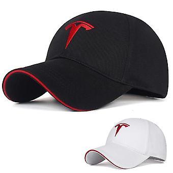 Nastaviteľný symbol auta Tesla Vyšívaný klobúk