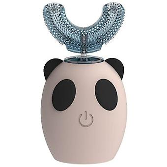 5X4.4x1.4cm الوردي التلقائي ش على شكل فرشاة أسنان الأطفال، الكهربائية بالموجات فوق الصوتية تنظيف الفم وجهاز التمريض az16075