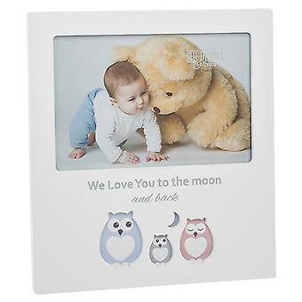 Cut Out Owl Frame Love Moon