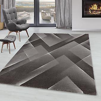 Stue Tæppe RICA Kort bunke blød bunke tæppe 3-D design trekant