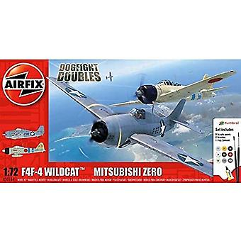 Airfix Grumman F-4F4 Wildcat & Mitsubishi Zero Dogfight -kaksoismallisarja