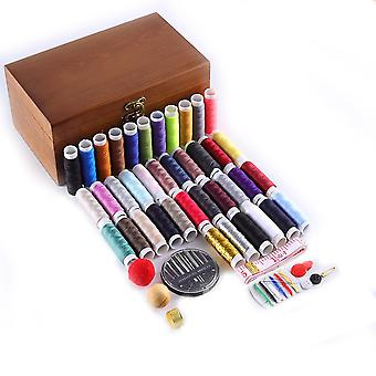 Wood Sewing Box Set Hand Sewing Embroidery Tools For Hand Quilting Stitching Embroidery Thread