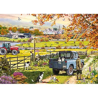 Otter House Countryside Morning Jigsaw Puzzle (1000 Pieces)