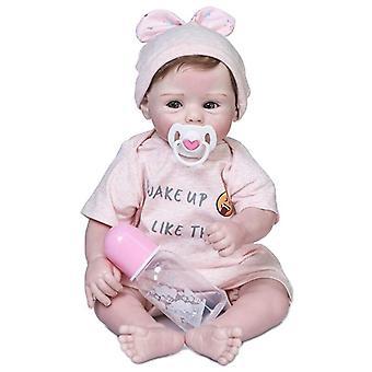 Originalt design 50cm bebe pige dukke genfødt blød krop nuttede nyfødte baby størrelse naturtro ægte touch fleksibel silikone vinyl