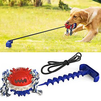 Pet Products Dogs Molar Teeth Resistant to Bite Outdoor Powerful Drawstring Ball Sounding Dog Toys