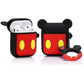 Silicone Case Compatible with Airpods 1&2 [DSN Anime Lightweight Series]  (Mickey)(Mickey)