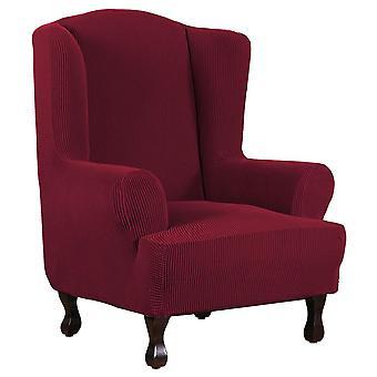 Rich Jacquard Stretch Wingback Chair Cover