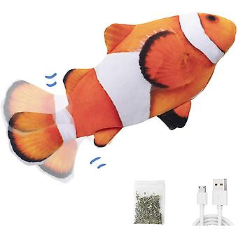 """Electric Flopping Fish 10.8"""", Moving Cat Mitten Kicker Toy For Fun"""