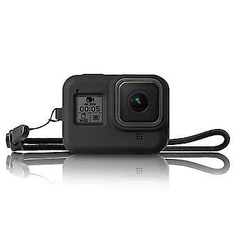 Szilikagél ütésálló védőhéj keret tok GoPro Hero 8 fekete akció sportkamera