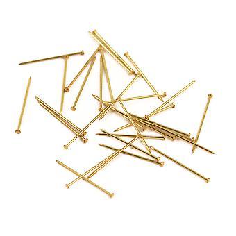 18mm Gold Craft Pins