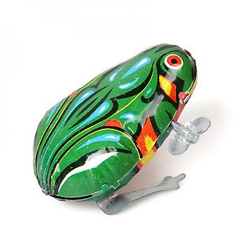 Children's Classic Iron Clockwork Toy, Puzzle Chain Game, Jumping Frog