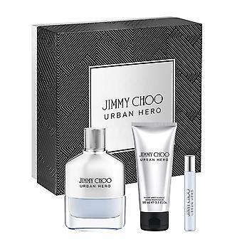 Jimmy choo urban hero gift set 100ml edp + aftershave balm 100ml + 7.5ml edp