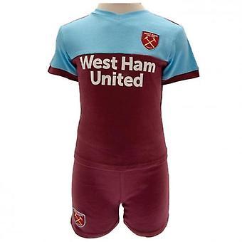 West Ham United Shirt & Short Set 6-9 Monate