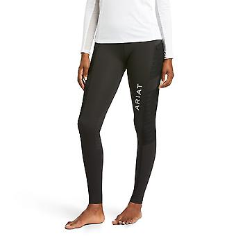 Ariat Moto Eos Womens Knee Patch Tight - Black