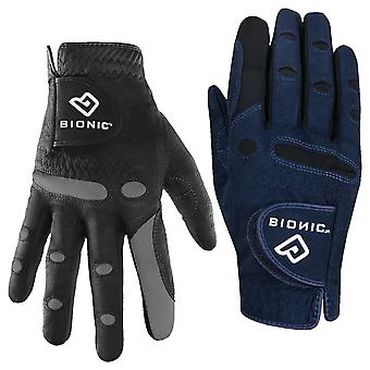 Bionic Womens AquaGrip Light Padded Suede Microfibre Golf Glove - Right Hand