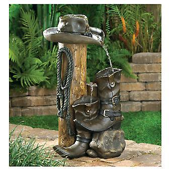 Cascading Fountains Cowboy Themed Garden Fountain, Pack of 1