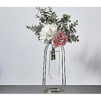 Vases nordic style gold plated eco friendly metal decor vases with flowers golden height 24cm11
