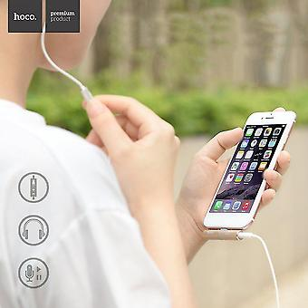 Cable clips hoco ls4 aux audio converter 2.0A charging listening to music for iphone 7
