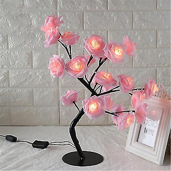 Lampada da tavolo a forma di rosa fiore albero di rose luce decorativa per soggiorno camera da letto dfds889(6)