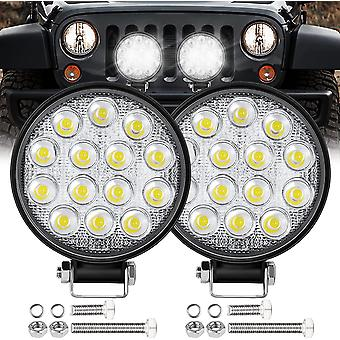 Mini Led Work Light Round Spotlight 42w Car Work Headlight Offroad Fog Light Lamp
