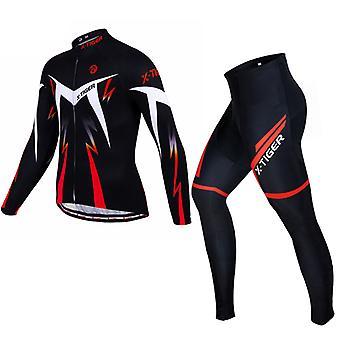 X-tiger Langærmet Cykling Todelt jakkesæt til mænd
