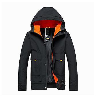 Nieuwe Heren's Color Block Jacket Hooded Casual Lightweight Jacket Slim Jacket