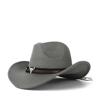 Ull Western Cowboy Hat Lady Outblack Sombrero Grå