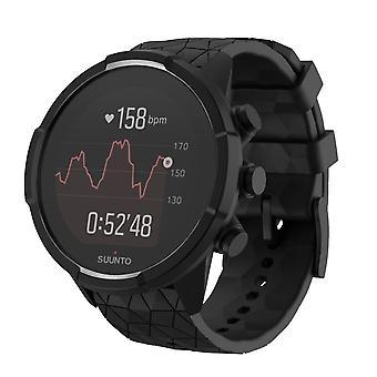 24mm zwarte siliconen horlogeband band voor Suunto 9 Baro
