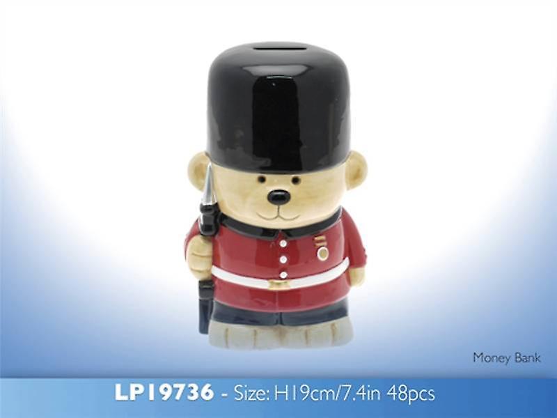 Guardsman Bear Money Bank
