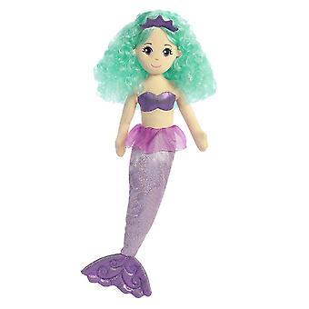 Aurora verden sjøen glitrar Alexa Mermaid Kosedyr (stor)