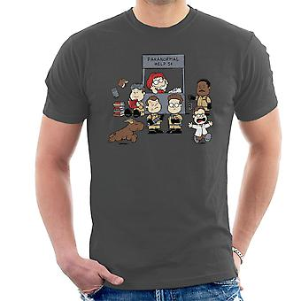 Paranormal Help Ghostbusters Peanuts Men's T-Shirt