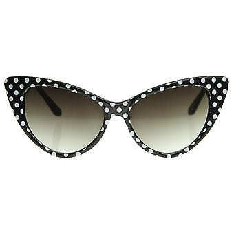 Polka Dot Cat Eye damskie Mod mody Super Cat okulary