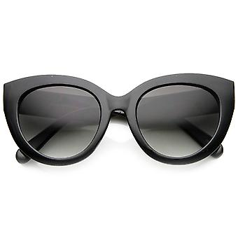 Ladies Oversized Elegant Bold Rim Round Cateye Sunglasses