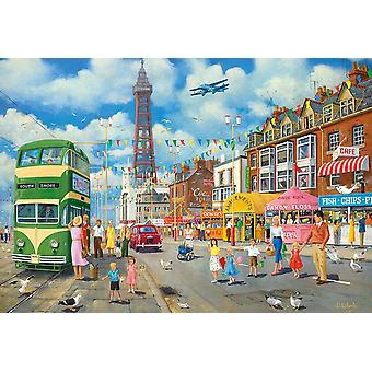 Gibsons Blackpool Promenade Jigsaw Puzzle (500 stykker)