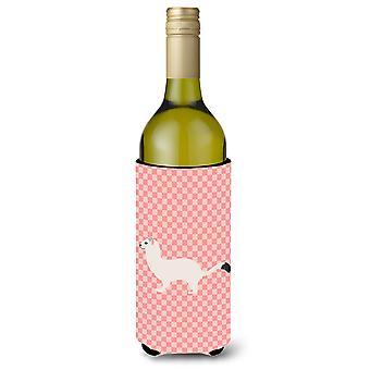 Kärppä lyhytpyrstöinen Lumikko Pink tarkistaa viinipullo Beverge eriste Hugger