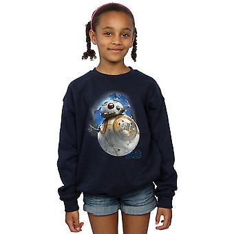 Star Wars Girls The Last Jedi BB-8 Brushed Sweatshirt