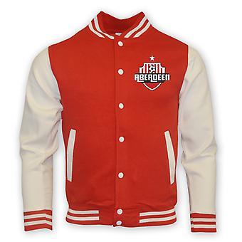 Aberdeen College Baseball Jacket (red) - Kids