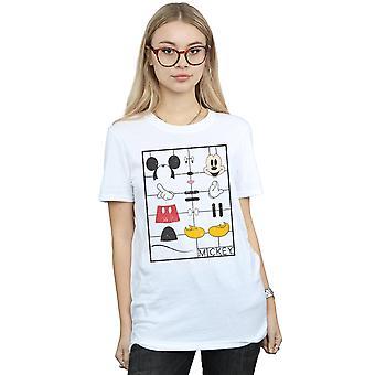 Disney naisten Mikki Hiiri rakentaminen Kit poika ystävä Fit T-paita