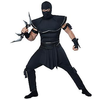 Stealth Ninja Japanese Warrior Assassin Asia Samurai Kung Fu Mens Costume