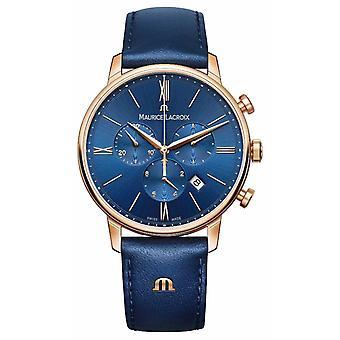 Maurice Lacroix Eliros chronograaf blauw en goud EL1098-PVP01-411-1 Watch