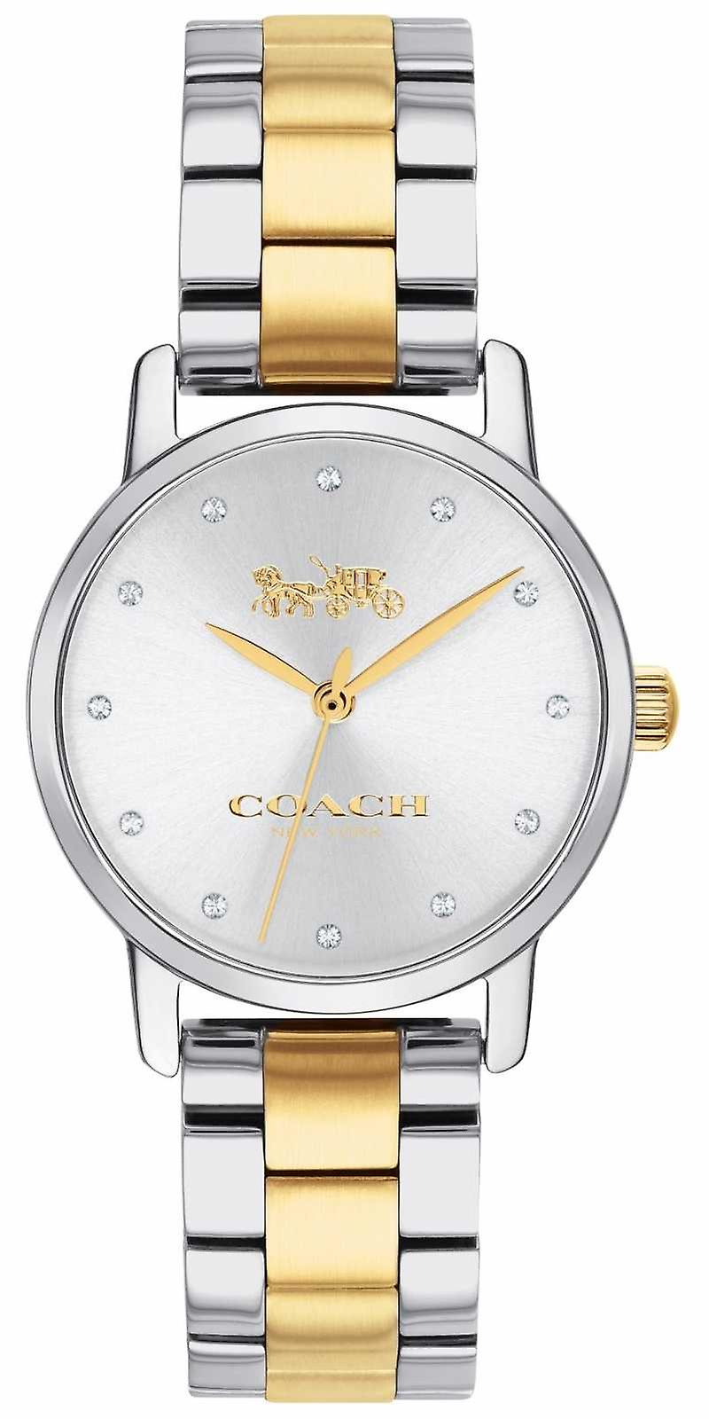 Coach Ladies Grand Two Tone Gold & Silver Stainless Steel 14503004 Watch